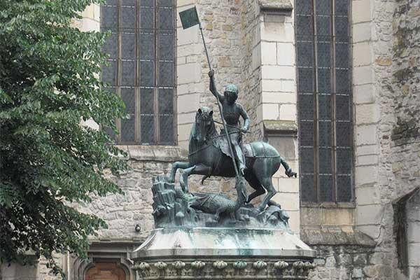 Prága - Szent György szobor