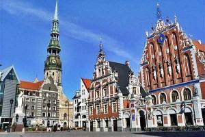 Riga - az óváros egy része
