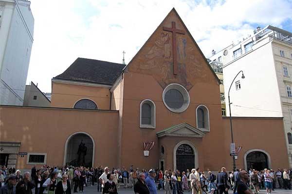 Bécs - Kapucinus kripta bejárata