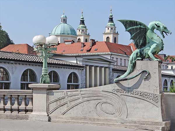 Ljubjana Sárkányos híd