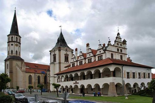 Lőcse - Szent Jakab templom és a Városháza