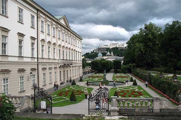 Salzburg - Mirabell kastély és park