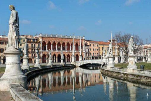 Padova Prato di Valle tér