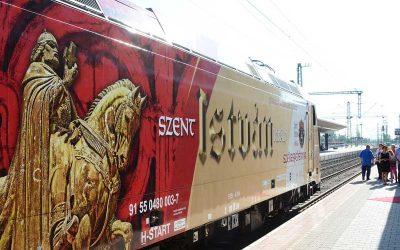 Szent István király mozdony húzza 2018-ban a pünkösdi zarándokvonatunkat